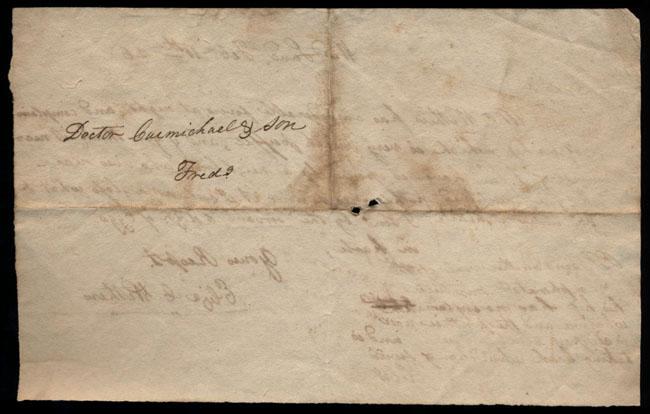 Box2/1826Carmichael_Correspondence/1826Feb11/verso