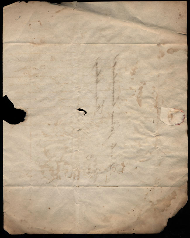 Box2/1826Carmichael_Correspondence/1826Feb28_Ward/env_verso
