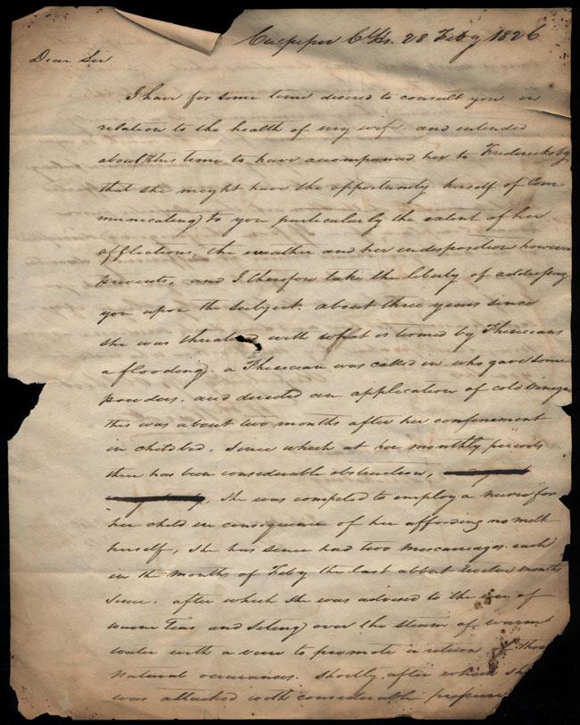 Box2/1826Carmichael_Correspondence/1826Feb28_Ward/recto