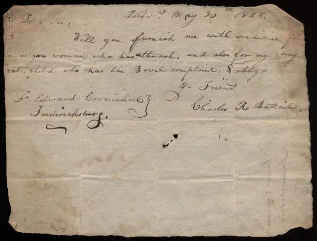 Box2/1826Carmichael_Correspondence/1826May30/recto