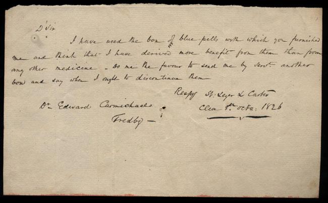 Box2/1826Carmichael_Correspondence/1826Oct08_Carter/recto