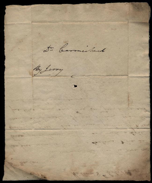 Box2/1826Carmichael_Correspondence/1826Oct08_Hill/verso