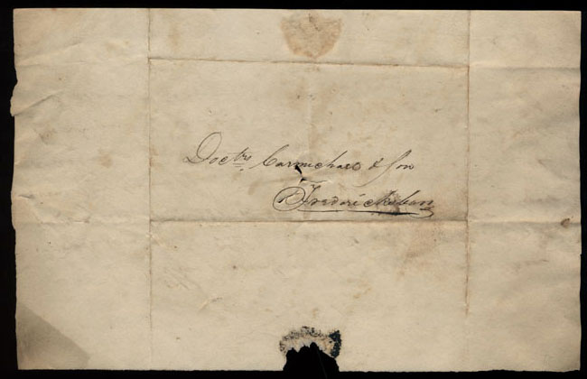 Box2/1826Carmichael_Correspondence/1826Oct28/verso