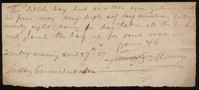 Box2/1827Carmichael_Correspondence/1827Apr27_Maury/recto