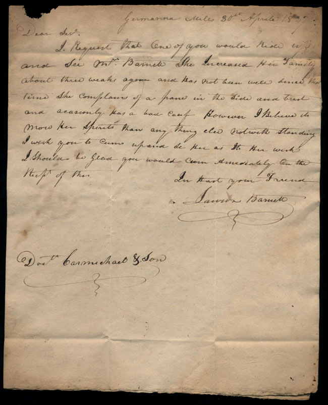 Box2/1827Carmichael_Correspondence/1827Apr30/pg1