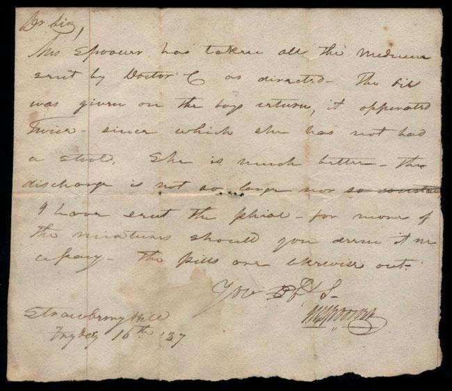 Box2/1827Carmichael_Correspondence/1827Feb16_Spooner/recto