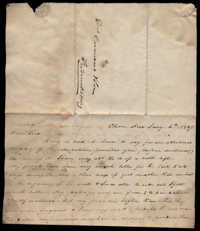Box2/1827Carmichael_Correspondence/1827Jan06/recto