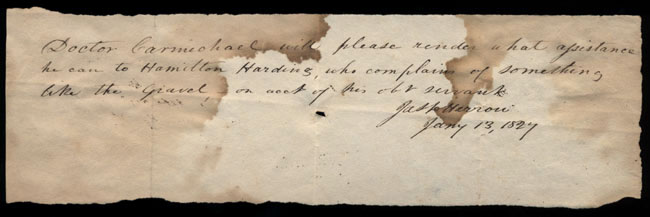 Box2/1827Carmichael_Correspondence/1827Jan13_Harrow/recto