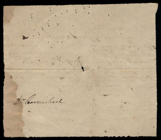 Box2/1827Carmichael_Correspondence/1827Jul26/verso