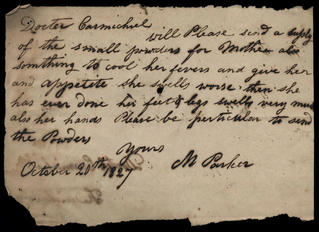 Box2/1827Carmichael_Correspondence/1827Oct20/recto