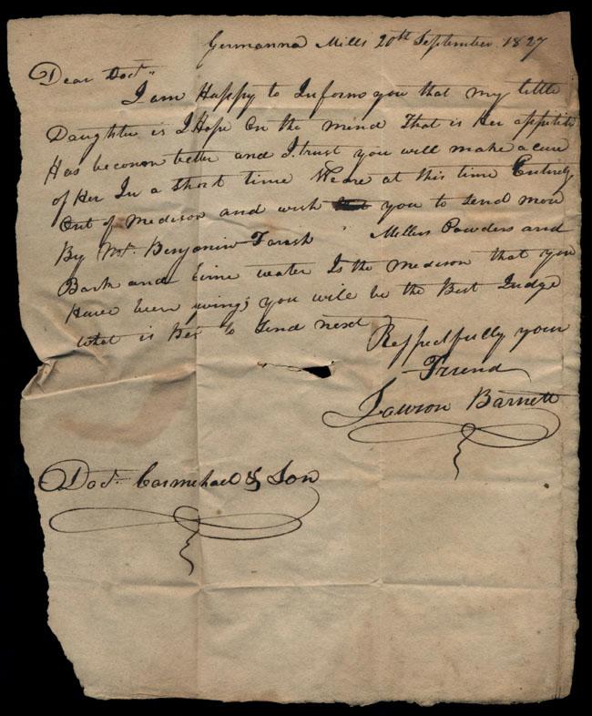 Box2/1827Carmichael_Correspondence/1827Sep20/recto
