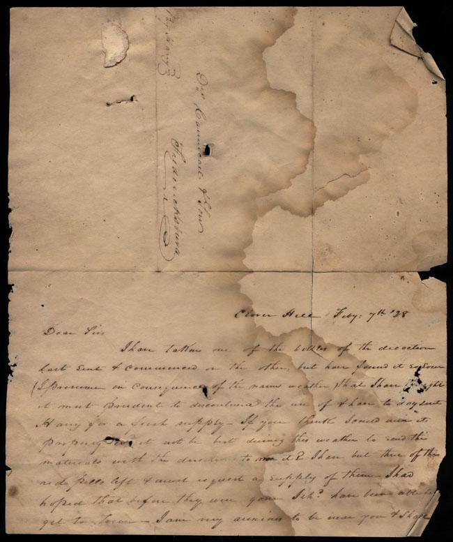 Box2/1828_1830Carmichael_Correspondence/1828Feb07/recto