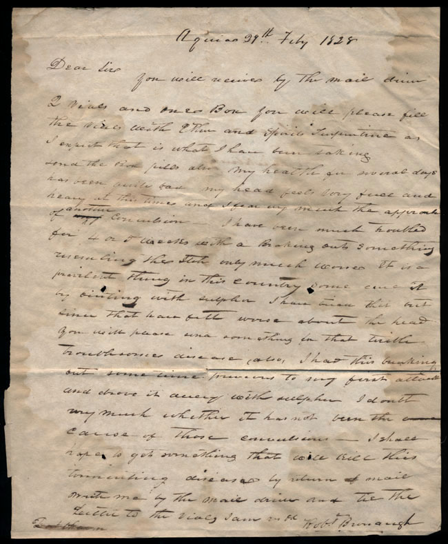Box2/1828_1830Carmichael_Correspondence/1828Feb29/recto