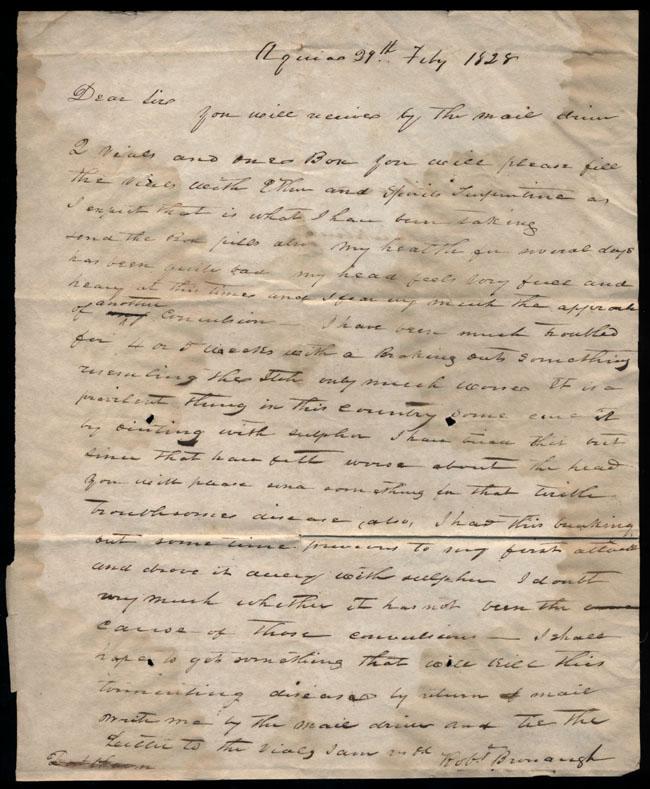 Box2/1828_1830Carmichael_Correspondence/1828Feb29/recto