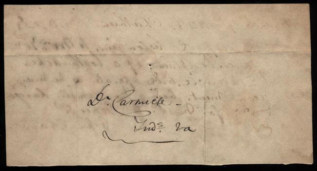 Box2/1828_1830Carmichael_Correspondence/1828Mar07/verso