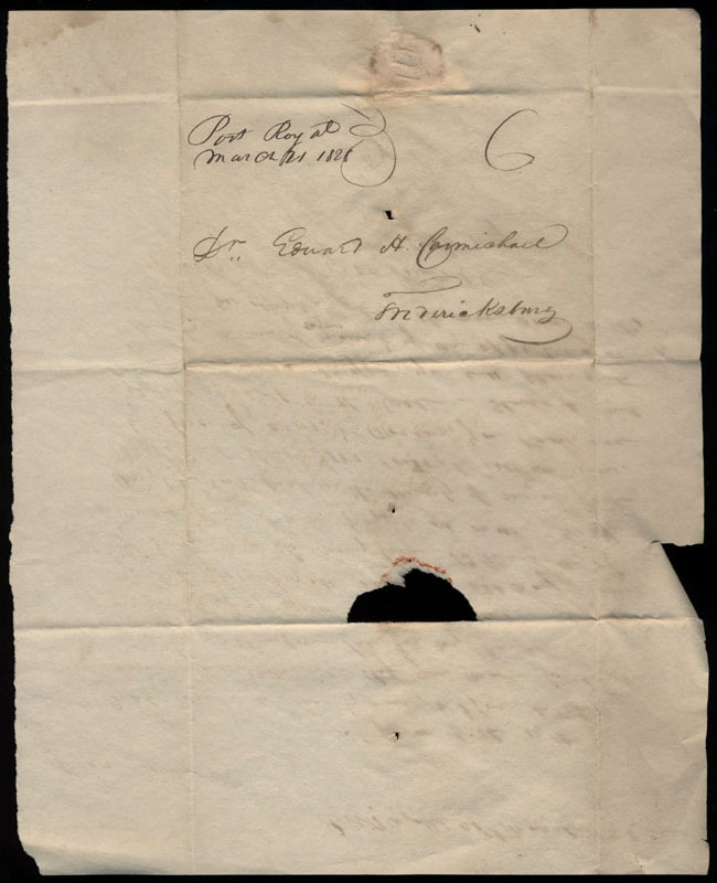 Box2/1828_1830Carmichael_Correspondence/1828Mar21/verso