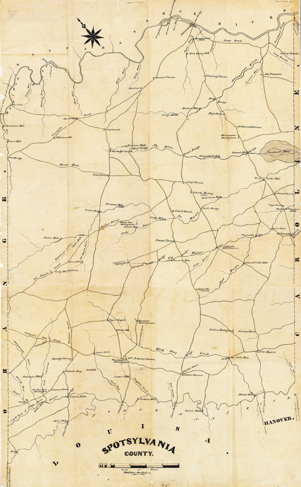 Spotsylvania County Map c.1820